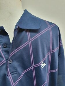 Dunlop mens golf top sz large new with tags blue and purple sport stag casual