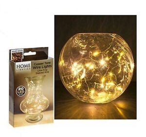 Home Lighting 'Warm White' Copper Tone Wire Lights - 20 LED Bulbs