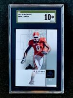 2011 SP Authentic AJ Green Upper Deck Rookie SGC 10 Gold Label Pop 3
