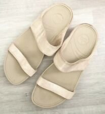 Fitflop Ladies Sandals Open Toe Nude Beige Size 8 UK EU 42 Summer Fashion
