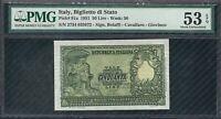 Banconota  50 Lire Repubblica Italiana Italia Elmata    PMG