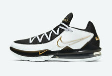 Nike LeBron XVII Low CD5007-101 White Metallic Gold Black Men's Basketball Shoes