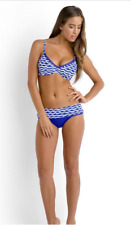 NWT Seafolly women size U.S. 10 TIDALWAVE D CUP BLUE RAY TOP