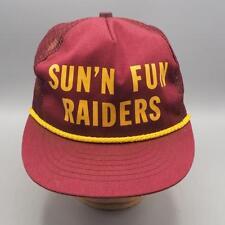 Vintage Sun 'N Fun Raiders Mesh Snapback Trucker Hat Cap