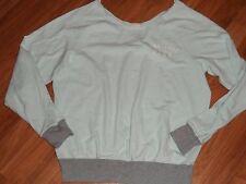 women's XS ~ VS Victoria's secret PINK sweatshirt ~ pullover aqua gray