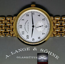 A. Lange & Sohne 1815 18k Yellow Gold Mens Bracelet Watch