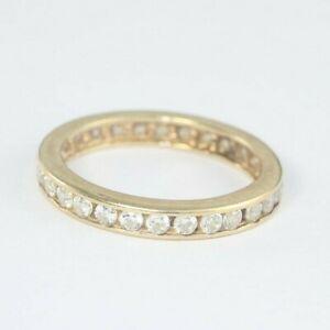 9ct Gold Cz Full Eternity Ring 2.5g Size N