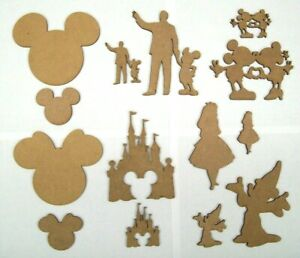 3mm MDF Disney laser cut out shapes, crafting, decoration, painting etc