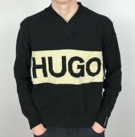 Vintage HUGO BOSS Knit Jumper | Classic 90s Designer | Small S Black