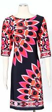 SANDRA DARREN Navy/Pink Sz 12 Women's Wear to Work Dress $69 New