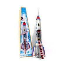 Alexander Taron Friction Driven Tin Toy Rocket Ship Space Toy for DISPLAY