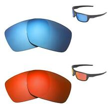 c91328cebd6 Walleva Fire Red + Ice Blue Polarized Replacement Lenses For Oakley Drop  Point