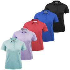 Cotton Blend Short Sleeve Polo Shirts for Women