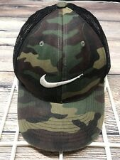 Nike Swoosh Camo Hat SnapBack Mesh Trucker Unisex Adjustable Golf Hunting Cap