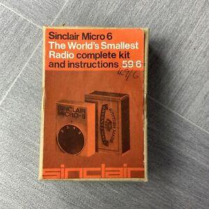 Sinclair Micro 6 - The Worlds Smallest Radio c1964 - Very Rare.
