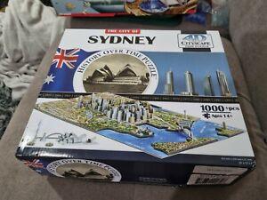 4D CITYSCAPE Time Puzzle The City of SYDNEY, AUSTRALIA, 1000+ pcs * COMPLETE *