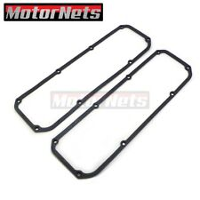 "Ford 351C 351M 400M Steel Core Rubber Valve Cover Gaskets 3/16"" Black Pair"