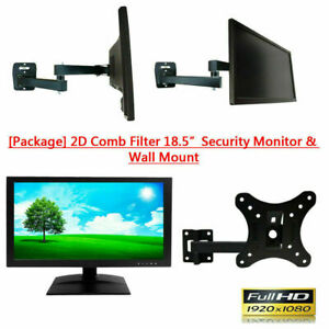 """[Package] 1PV 2D comb filter 18.5"""" Security Monitor HD BNC VGA HDMI & Wall Mount"""