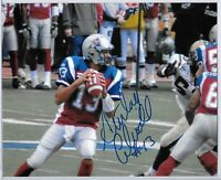 ANTHONY CALVILLO CFL MONTREAL ALOUETTES AUTOGRAPHED 8 X 10 PICTURE COA 2010