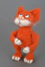 SALE Hand Crochet Soft Toy Red Cat