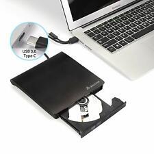 Externes CD/DVD Laufwerk USB 3.0 mit Type-C Brenner DVD-RW für Win10 /8/7/10/XP