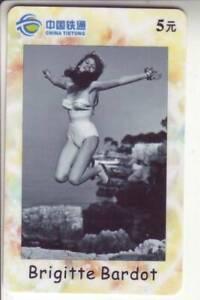 Asien :  tolle schöne Telefonkarte - Brigitte Bardot - sexy Girl ( 138 )
