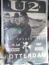 U2 July 10 1987 Rotterdam Poster/Stub/News Article G Rare Creases Tears Htf Vtg!