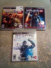 MASS EFFECT 2 + 3 + Red Faction Armageddon PS3 3 Game Combo