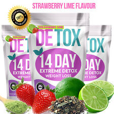STRAWBERRY LIME✶SLIMMING TEA✶14 DAY DETOX✶WEIGHT LOSS✶DIET✶BURN FAT SKINNY TEA