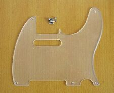 Transparent 5 Hole Tele Single Pick Guard Clear Scratch Plate for Telecaster
