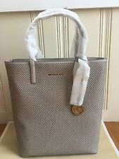 MICHAEL KORS HAYLEY LARGE PERFORATED-LEATHER TOTE BAG NWT