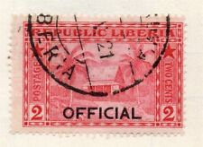 Liberia 1920s Officials Early Issue Fine Used 2c. Optd 151463