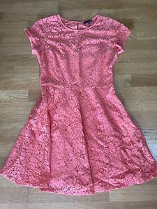LADAKH coral pink lace mini dress size 10