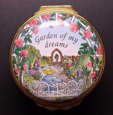 Halcyon Enamels Box Garden of My Dreams Basket Shaped