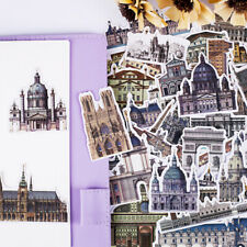 58Pcs/pack architecture of the middle ages sticker scrapbook diary album decor-