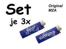 """Simson je 3x Encendedor BIC """"y En todo momento Buen Viaje"""" & """"Rápido Flitzer de"""