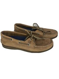 Sperry Top Sider Tan Leather 9155240 Sahara 2 Eye Boat Shoes Womens Size 9.5 M