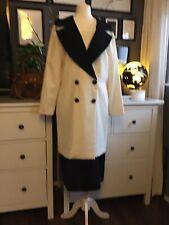 vintage Dress 12 10 Tuxedo Blazer Long Midi Cream Black Alistair