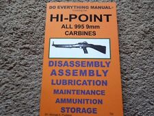 Hi-Point All 995 9mm Carbine Rifle Manuals 31 Pg.