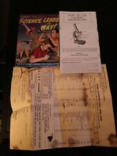 Vintage 1961 Gilbert Microscope Owners Instructions  parts list Advertise Comic