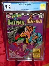 💎 Brave and the Bold #70 CGC 9.2 NM- OW/W pages DC Comics 1967 Batman & Hawkman