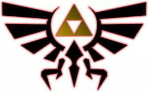 Legend of Zelda Crest of Hyrule Removable Stickers Decal Triforce Link Sheild