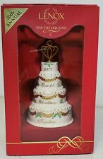Lenox ~ Holiday Ornament 2009 Our First Christmas Together Porcelain 4 Tier Cake