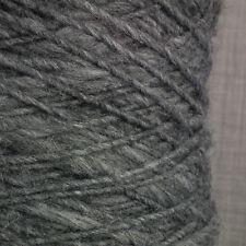 ALPACA WOOL SLUB YARN CHUNKY ARAN DK 500g CONE 10 BALL DARK GREY DOUBLE KNITTING
