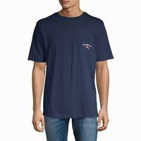 Tommy Bahama Mens T-Shirt Blue Size Small S Pass The Chips Graphic Tee $49 334