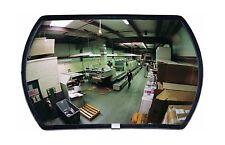 "Round Rectangular Glass Indoor Convex Security Mirror, 18"" Length x 12"" Width"