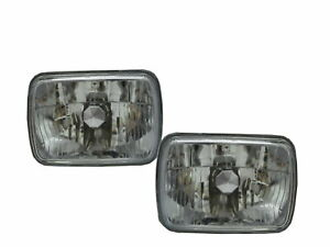 B350 B250 B150 1988-1993 VAN 5D Clear Headlight Chrome for DODGE LHD