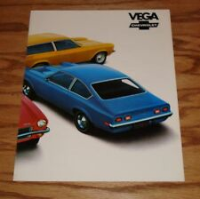 Original 1972 Chevrolet Vega Facts Features Sales Sheet Brochure 72 Chevy
