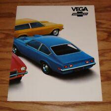 Original 1972 Chevrolet Vega Facts Features Sales Sheet Brochure 72 Chevy
