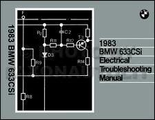 1983 BMW 633CSi Electrical Troubleshooting Manual Wiring Diagrams 633 CSi